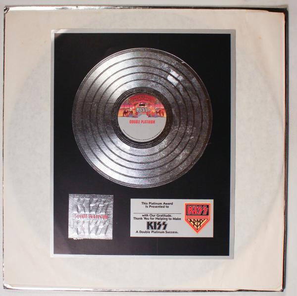 Kiss Double Platinum 2xlp Award Insert 1978 Casablanca