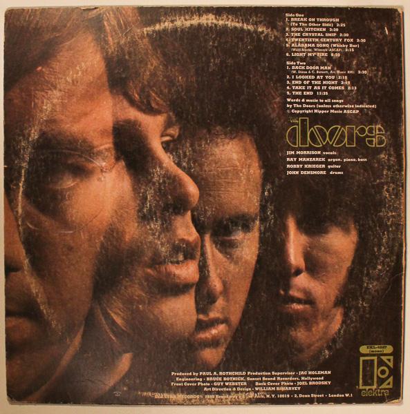 The Doors Self Titled Mono Lp Vinyl 1967 Elektra 4007 R